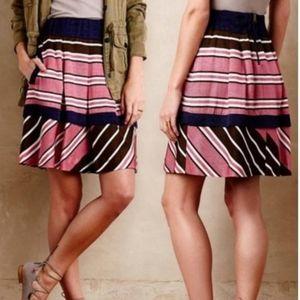 Anthropologie Maeve Ellery A-line skirt pink sz 6